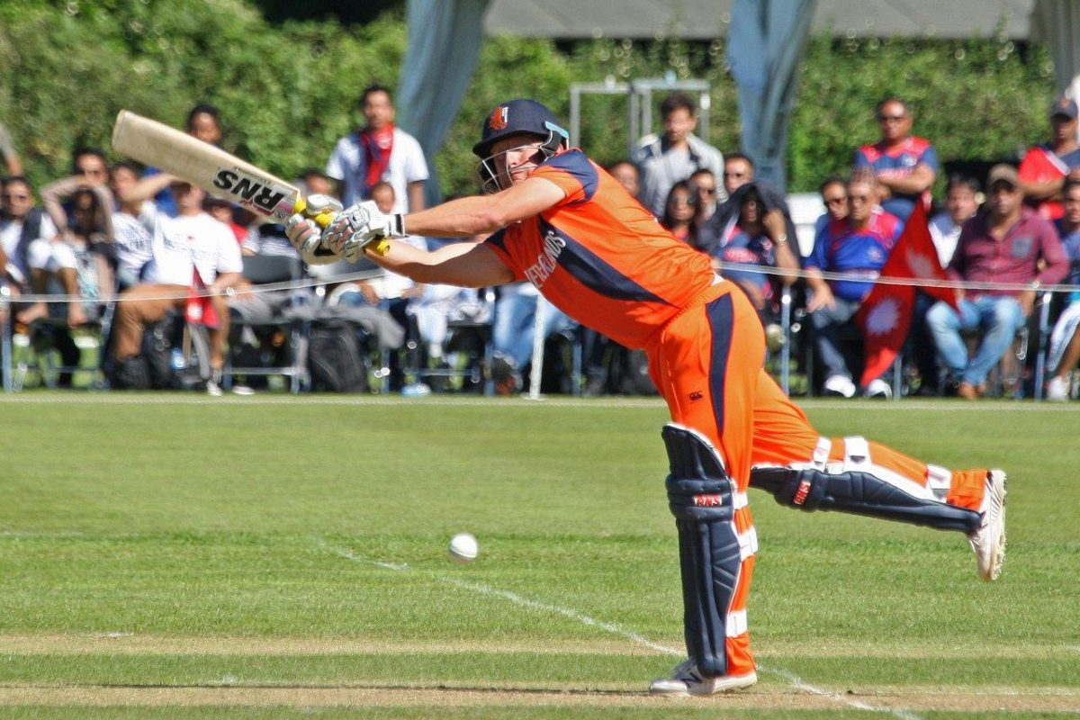 Roelof van der Merwe topscored with 56 from 61 balls for The Netherlands.