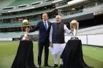 Cricket World Cup trophy unites Modi and Abbott