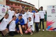 Aaron Finch, Ashton Agar and Peter Nevill enjoy a game in the rain with ICC Cricket For Good and Team Swachh in Dharamsala  - Cricket News
