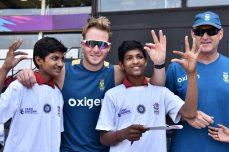 Match tied, but Duminy, Miller wins hearts of children - Cricket News
