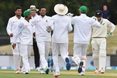 Shakib's triple strike leaves match poised - Cricket News