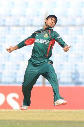 Bangladesh bowler bowls.