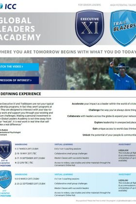 ICC launch Global Leaders Academy - Cricket News