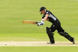 Katie Perkins plays on the leg-side - ICC T20 News