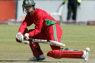 Zimbabwe's batsman Sean Williams plays a shot during an ODI. - ICC T20 News