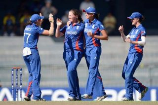 England Women celebrates its win over New Zealand to progress to the finals.  - ICC T20 News