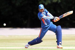Jhulan Goswami scored a valuable 23 as India Women beat Sri Lanka Women by nine runs. - ICC T20 News