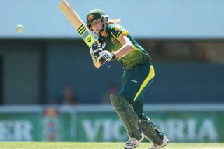 Ellyse Perry of Australia bats against England. - ICC T20 News