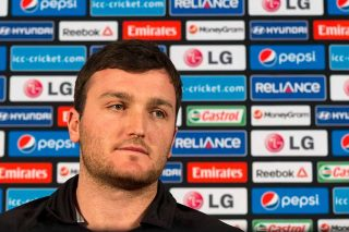 Jamie Atkinson captain of the Hong Kong cricket team at the captain's arrival press conference. - ICC T20 News