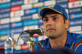 Mohammad Nabi, captain of Afghanistan at the captains arrival press conference. - ICC T20 News