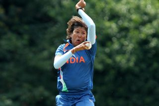 Jhulan Goswami took 2 for 15 in four overs before scoring a quick, unbeaten 18. - ICC T20 News