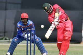 Hamilton Masakadza of Zimbabwe in action. - ICC T20 News