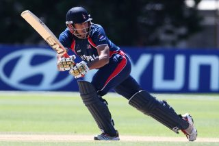 Paras Khadka needs 14 runs to become the first player to hit 500 T20 runs for Nepal. - ICC T20 News