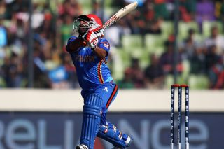 Mohammad Shahzad of Afghanistan in action. - ICC T20 News