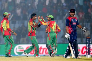 Bangladesh registers thumping win over Nepal in the first round of the World Twenty20.  - ICC T20 News