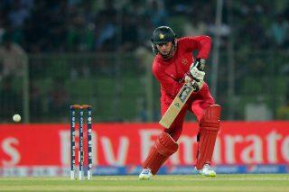 Zimbabwe captain Brendan Taylor  bats. - ICC T20 News