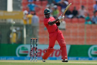 Elton Chigumbura plays a shot. - ICC T20 News
