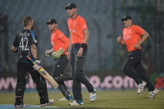 Players leave the field as rain stopped play. - ICC T20 News