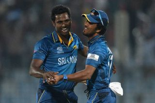 Angelo Mathews picked up three wickets for 16 runs. - ICC T20 News