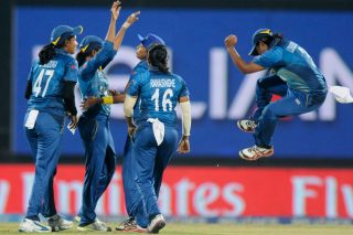 Shashikala Siriwardene captain of Sri Lanka celebrates the wicket of Mithali Raj captain of India. - ICC T20 News