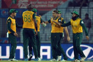 South African bowler Imran Tahir picks up four wickets to hamper Netherlands' chase.  - ICC T20 News