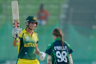 Meg Lanning plays a captain's knock as she scored a 65-ball 126 against Ireland.  - ICC T20 News