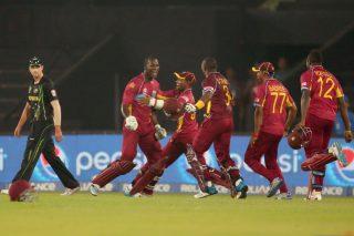 Darren Sammy hits unbeaten 13-ball 34 to take team to thrilling victory against Australia. - ICC T20 News