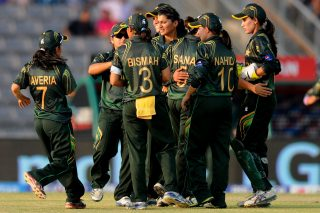 Asmavia Iqbal of Pakistan celebrates the wicket of Mary Waldron of Ireland.  - ICC T20 News