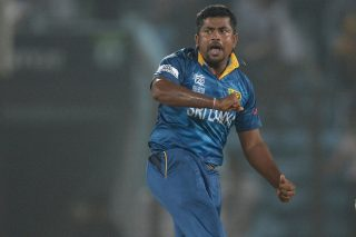 Rangana Herath came up with a perfecr spell of left-arm spin bowling, taking 5 for 3 to take Sri Lanka to the semi-finals. - ICC T20 News