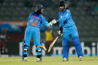 Mithali Raj and Punam Raut during the match. - ICC T20 News