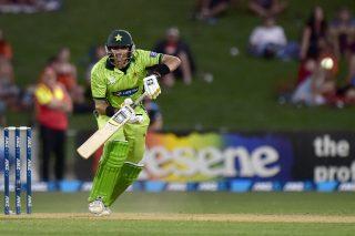 Pakistan captain Misbah-Ul-Haq bats.