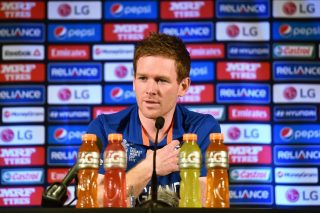 Eoin Morgan, the England captain, speaks at a press conference ahead of the ICC Cricket World Cup 2015 in Sydney.