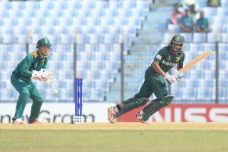 Bangladesh batsman in action.