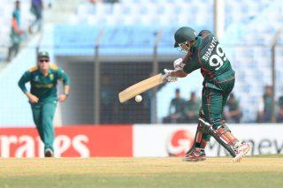 Bangladesh player bats.