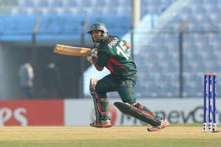 Bangladesh batsman in action against South Africa.