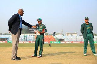 Bangladesh captain during the toss.