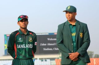 Bangladesh and South Africa captains during toss.