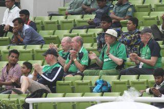 Irish fans in attendance.