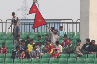 Nepal fans out in force.