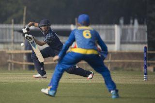 Owais Shah of Scotland U19 in action.