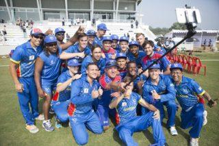 Winning selfie of Namibia U19s Cricket Team.