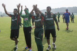 Bangladesh U-19 players celebrating their win.
