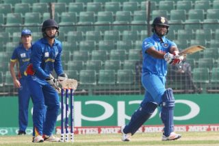 Rishabh Pant of India U-19 bats.