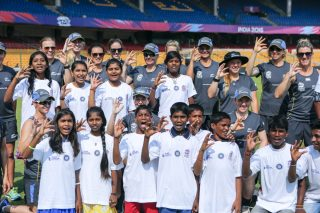 ICC Cricket For Good and Team Swachh clinic with the New Zealand White Ferns