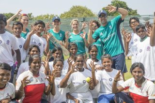 ICC Cricket For Good and Team Swachh clinic with the English women's team