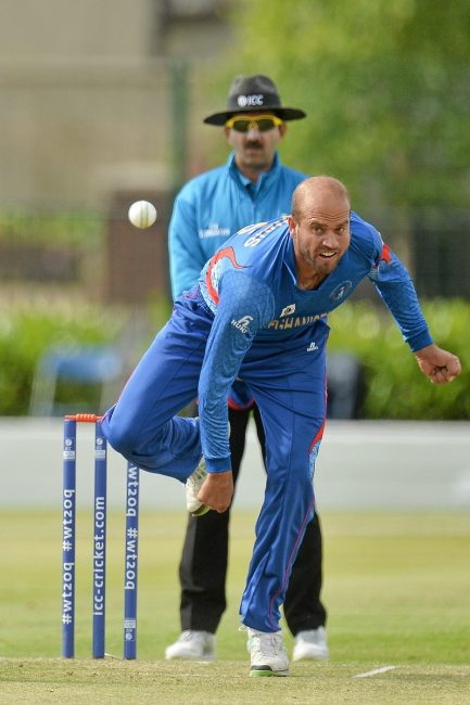 Mirwais Ashraf of Afghanistan in action.