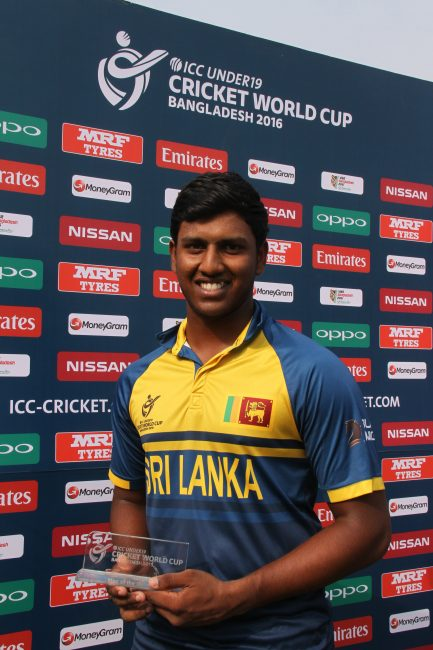 Avishka Fernando is the Man of the Match award.