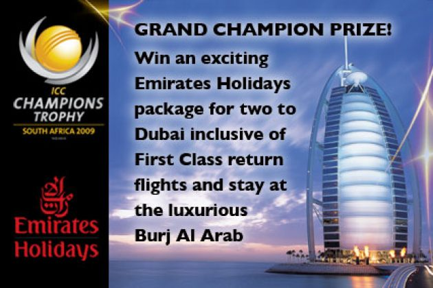Competition - Win First-Class Holiday package to Dubai - Cricket News