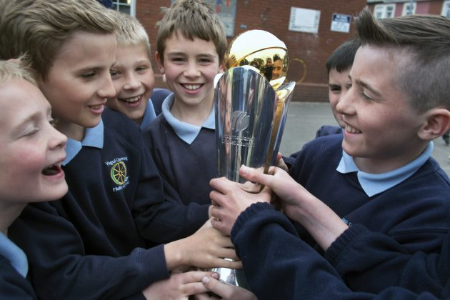 Young people get their hands on the ICC Champions Trophy in Birmingham - Cricket News