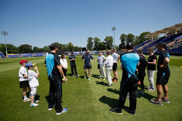 New Zealand THINK WISE and give back to Cardiff community - Cricket News